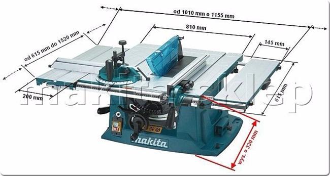 Thiết kế của máy cưa bàn Makita MLT 100