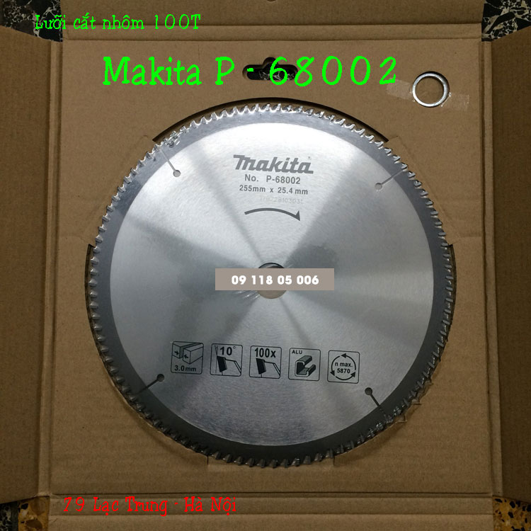 Lưỡi cắt nhôm makita P-68002