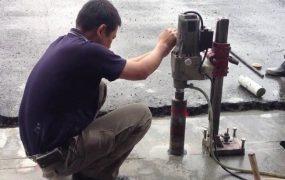 Tuân thủ đúng kỹ thuật sử dụng máy khoan rút lõi bê tông