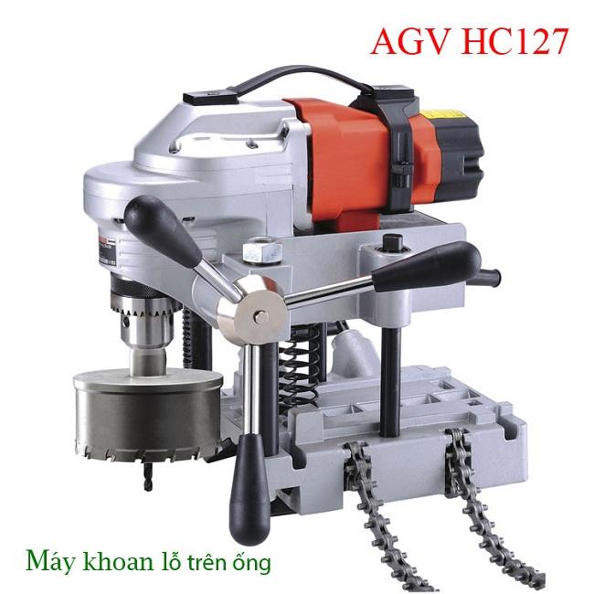 may khoan lo tren ong AGV-HC127