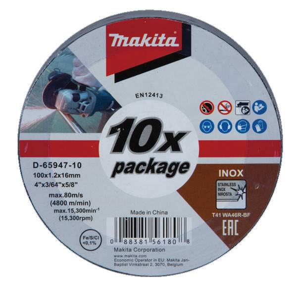 Đá cắt inox mỏng Makita D-65947-10